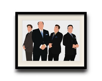 The Sopranos minimalist poster, The Sopranos digital art poster, Framed print, Matted print, Mounted print