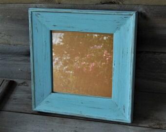 Upcycled Vintage Framed Mirror / Farmhouse Decor / Shabby Chic / Rustic / Beach Cottage / Coastal Decor