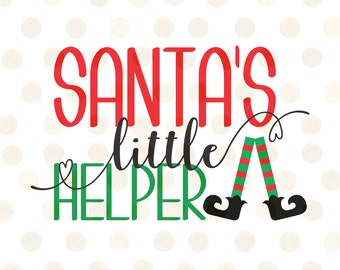 Santa's Little Helper Svg, Christmas Svg, Elf Svg, Holiday Svg, Christmas Svg Designs, Baby Christmas Svg