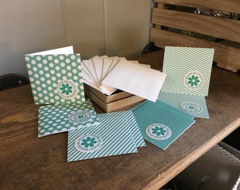 Colored Pattern Mini Cards