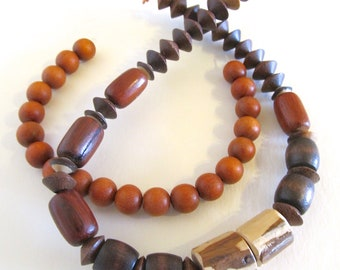 Earthy Wood Bead Assortment
