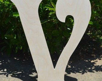 "24"" Large Wooden Letter - Unfinished Ready to paint - Door Hangers- Home Decor- Wall Art"