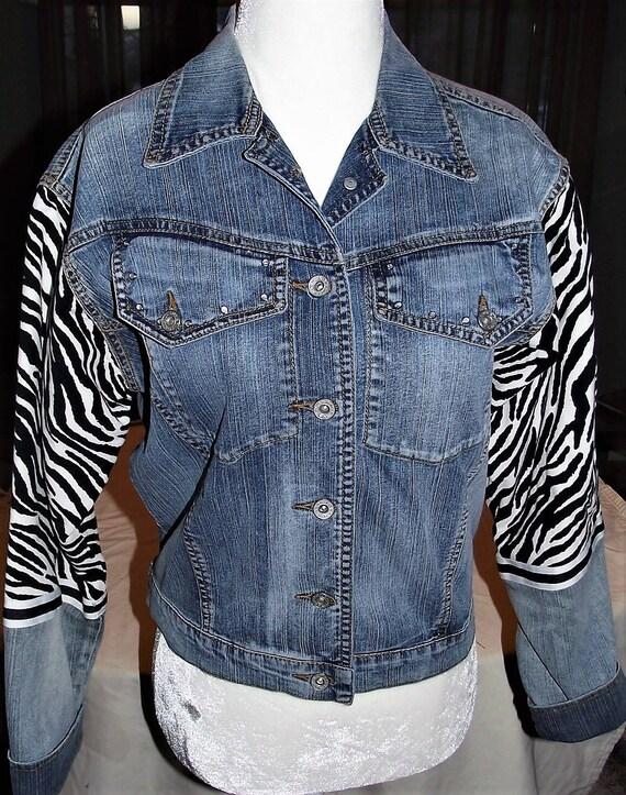 Refurbished Womens Denim Jacket-Size Sm