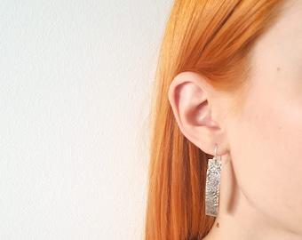 Handmade rough surface earrings - Reticulation