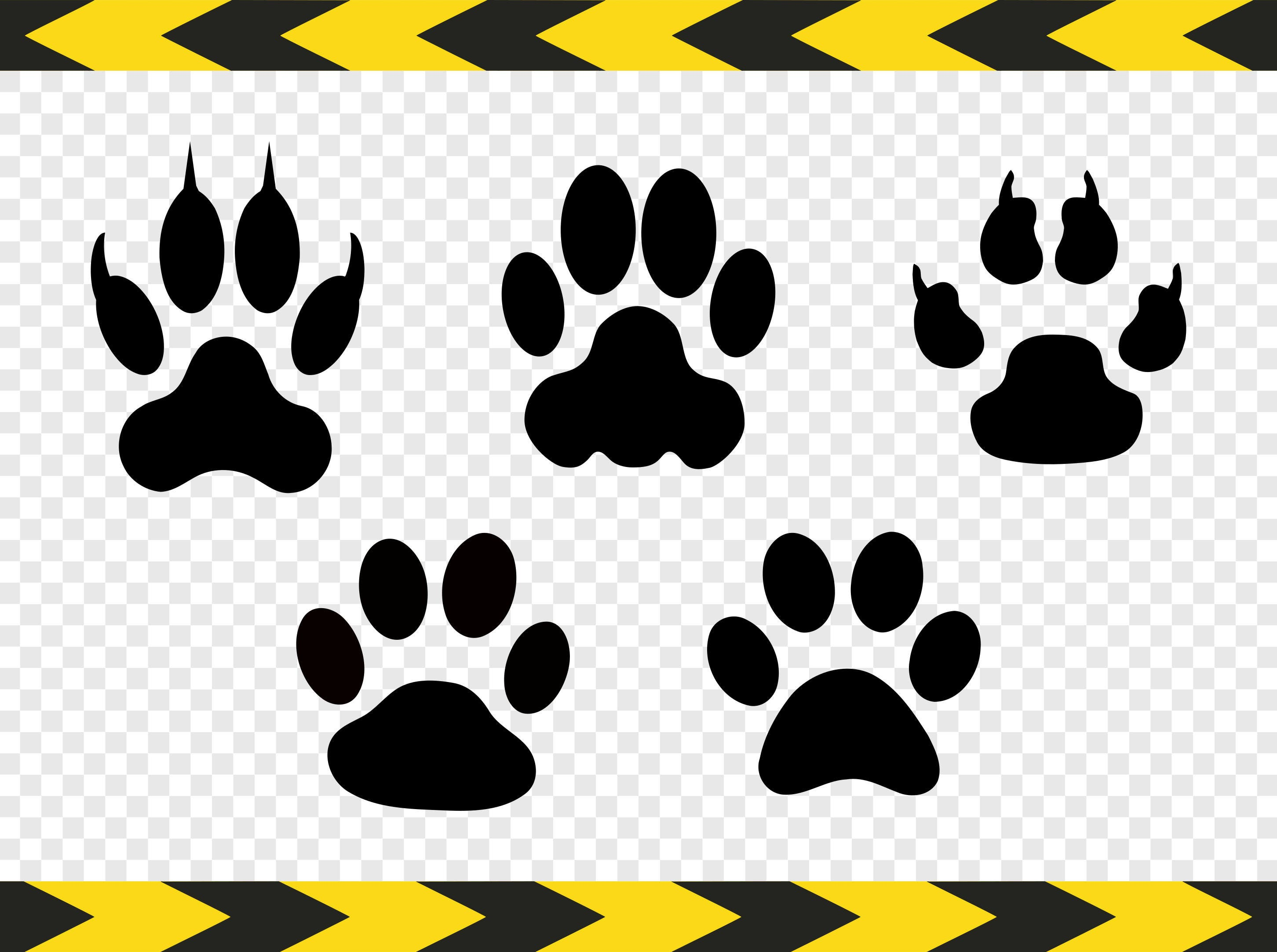 Download Paw print SVG Dog Cat Wolf Decal Cut files for Cricut