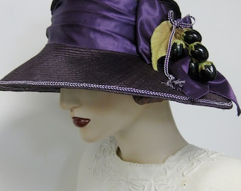ON SALE/ Aubergine Parasisal Cloche with Olives