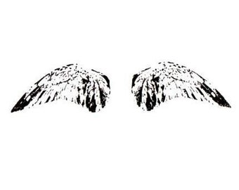 Wings unmounted rubber stamp feathers, bird / angel, flying, collage element, Sweet Grass Stamps No.15
