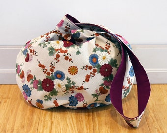 Reversible Japanese Knot Bag - Magenta -  Large