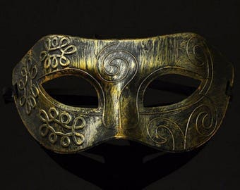 Mask Venetian Wolf, bronze or silver color iron mask