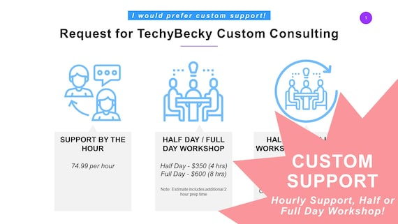 Request for TechyBecky Custom Consulting