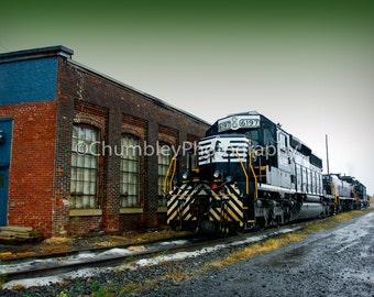 Misty Tracks- Locomotive/Train Fine Art Photograph Print- Transportation-Railroad
