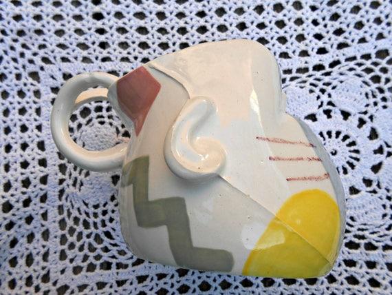 Totally Rad Ceramic Baby Head Mug