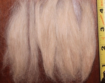 Suri Alpaca Combed Doll Hair Pale Blond Mixed Lot Very Fine for Reborn Reroot Projects Short lengths