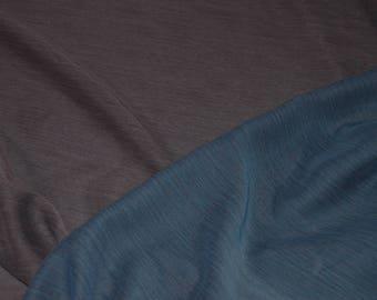 "Blue & Mauve Reversible Crinkle Chiffon Fabric 59"" Wide"