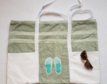 Beach Bag - Beach Tote - Beach Bag Tote - Towel Beach Bag - Handmade Beach Bag - Large Beach Tote - Pool Bag - Flip Flop Beach Tote -
