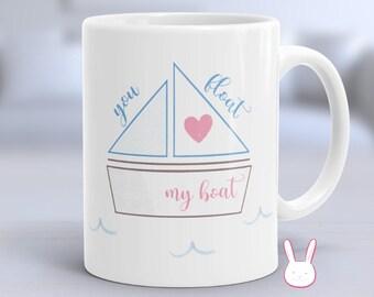 Boat Mug - Nautical Mug - Sailing Mug - Father's Day Gift - Fishing Mug - Romantic Mug - Anniversary Gift - Love Mug - Couples Mug - Coffee