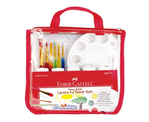 Kids Art Set - Faber Castell Learn to Paint | Kids Painting Kit ...