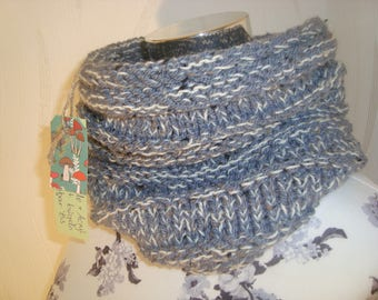 Scarf Loop Infinity Scarf Grey White