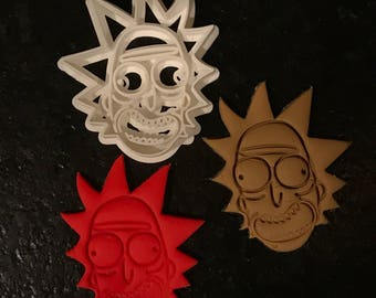 Rick Sanchez Cookie Cutter / Rick and Morty / 3D Printed