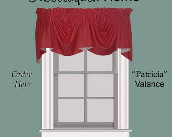 "Abellaquen Home Valance Pattern ""Patricia"""