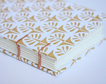 Coptic Stitch Trees Notebook