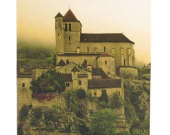 Tissue Box Cover French Decor - Fog Descending on St Cirq France