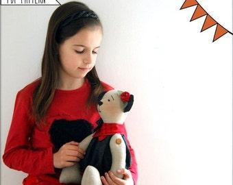 Pdf Sewing pattern Teddy Bear, Stuffed Animal, Soft Toy, Bear,Handmade Toy, Free Shipping