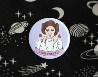 Princess Leia button badge