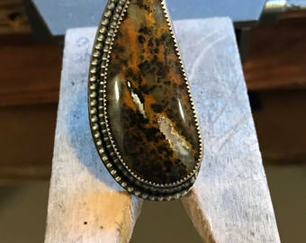 Cheetah Agate Ring (size 7)