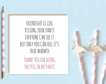 Pissy Pants card - FREE DELIVERY