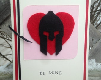 Spartan Race Valentine's Card with envelope