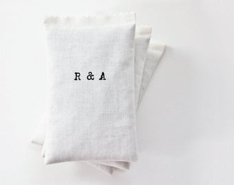 Cotton Anniversary Gift for Her & Him - His Hers Monogram Initials Lavender Sachet, Scented Sachets for 2nd Year Anniversary