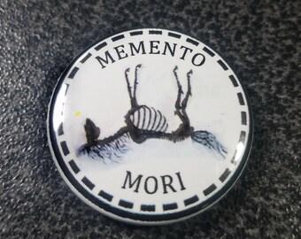 Memento Mori Horse 1 inch Button