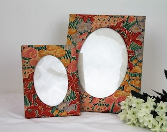 Liberty Picture Frames(Pair)/Liberty Fabric/Liberty Fabric Frames/Liberty of London/ REDUCED (1939C)