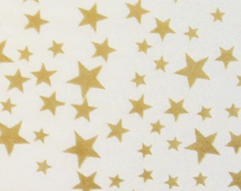 5 sheets of tissue paper with stars - gold wrapping paper Star Gold