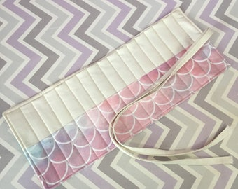 Art Crochet Sewing Jewelry Supplies Roll Up Travel Case