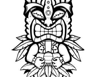 Tiki Coloring page #2