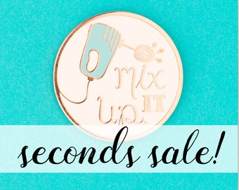 SECONDS SALE: Mix It Up Enamel Pin (imperfect)