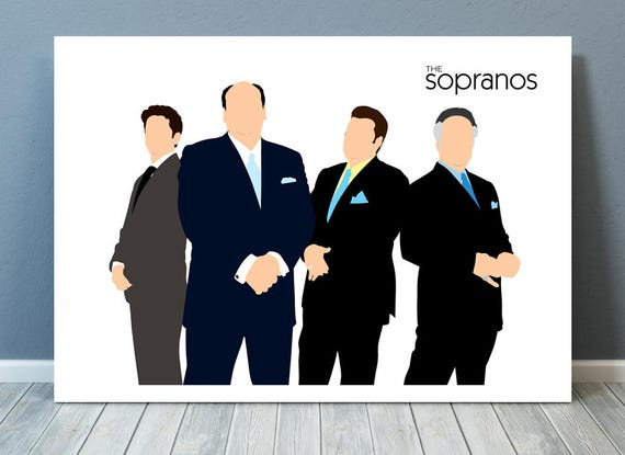 The Sopranos // James Gandolfini // Minimalist TV Poster // Unique Art Print