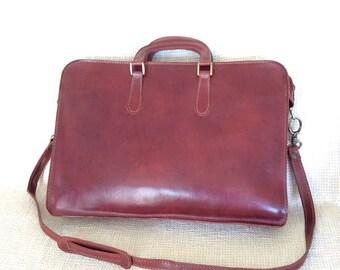 Genuine vintage I MEDICI Italian leather briefcase messenger bag