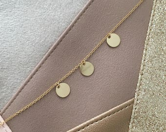 Sequin necklace - Elegant and feminine - boho chic wedding accessory