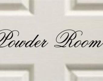 Vinyl Door Decal Powder Room