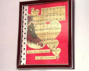 Vintage Sheet Music Collage Art