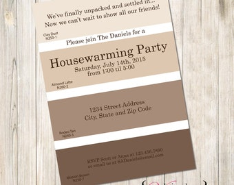 Paint chips etsy paint swatch housewarming invite paint housewarming invite swatch housewarming paint swatch house warming stopboris Choice Image