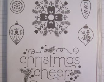 Cheerful Christmas Stampin' Up! Clear mount stamp set