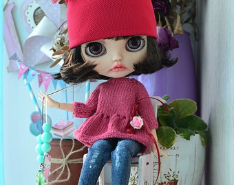 Blythe doll Set of clothes for dolls Blythe ooak custom blythe handmade