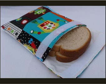 Sandwich Bag / Ecological Bag / Snack Bag / Snack Bag / Reusable Bag / Zero Waste / MOTIF: ROBOT
