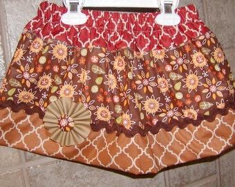 Girls skirt, Twirl Skirt, Infant skirt, toddler skirt, Custom..Fall Flowers..sizes newborn  to 10 girls