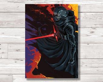 Kylo Ren Star Wars 'The Force Awakens' / 'The Last Jedi'  Character Digital Art Print, Original Art Print, FanArt Print