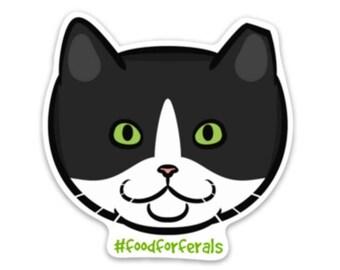 Feral Cat Sticker #foodforferals